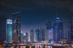 ноча Марины Дубай Стоковое Фото