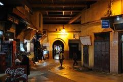ноча Марокко medina fes Стоковое Фото