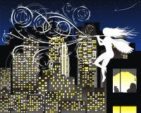 ноча мелодии иллюстрация штока