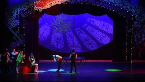 Ноча мечты showBaixi Paramount Hall-циркаческая сток-видео