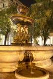 ноча милана фонтана Стоковое Фото