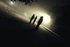 Мистические силуэты в тумане Стоковое Изображение RF