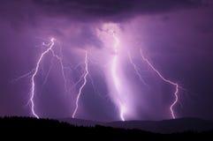 ноча молнии Стоковое Фото