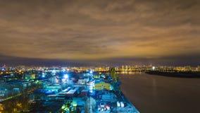 Ноча Москва. Южный порт Стоковые Изображения