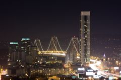 ноча моста залива Стоковая Фотография RF