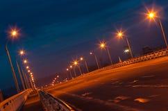 ноча моста пустая стоковое изображение rf