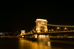 ноча моста цепная Стоковое Фото