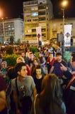 Ноча музеев в Бухаресте стоковые фото