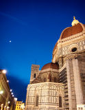 Ноча на Флоренсе и соборе Флоренса Стоковое Изображение RF