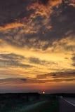 Ноча на хайвее Стоковая Фотография RF