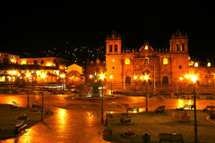 Площадь de Armas de Cusco, Перу Стоковая Фотография