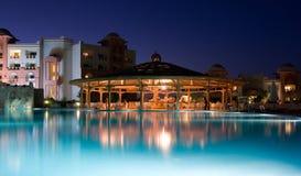 ноча освещения гостиницы роскошная Стоковое фото RF