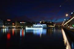 Ноча осени Женевы Стоковые Фото