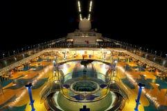 ноча палубы круиза Стоковая Фотография