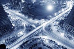 ноча перекрестков Стоковые Фотографии RF