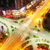 ноча перекрестков Стоковая Фотография