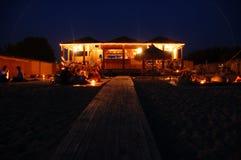ноча пляжа штанги Стоковые Фото