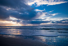 ноча пляжа Стоковые Изображения