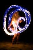 ноча пожара танцульки пляжа Стоковое Изображение RF