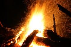ноча пожара Стоковые Фотографии RF