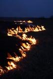 ноча пожара Стоковое Изображение