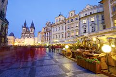 Ноча Прага Стоковые Фото