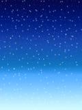 ноча предпосылки голубая понижаясь над зимой снежка неба Стоковое Фото