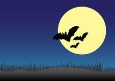ноча предпосылки пугающая иллюстрация вектора