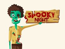 ноча пугающая Партия Halloween alien кот шаржа избегает вектор крыши иллюстрации Стоковые Изображения RF
