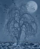 ноча пугающая иллюстрация вектора