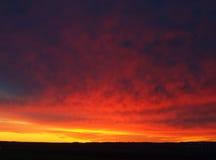 ноча рассвета северная Стоковое Фото