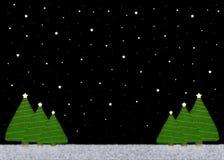 ноча рождества предпосылки Стоковая Фотография