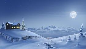 ноча рождества бесплатная иллюстрация