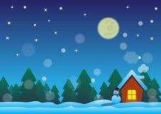 Ноча рождества в счастливом доме Стоковая Фотография