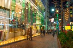 Ноча рождества в токио Стоковая Фотография