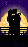 ноча романтичная Стоковое Изображение RF