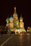 ноча Россия moscow intercession собора Стоковое Изображение RF