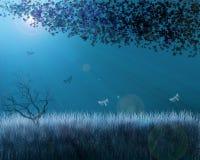 ноча сада Стоковое Изображение