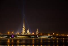 Ноча Санкт-Петербург. Стоковое Фото