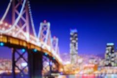 ноча Сан-Франциско Стоковые Изображения RF