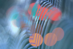 ноча светов абстрактного города предпосылки цветастая Стоковая Фотография RF