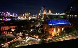 ноча Сидней гавани Австралии Стоковые Фото