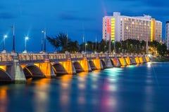 Ноча сини Condado Стоковые Изображения