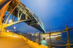 ноча Сидней гавани моста Австралии Стоковое фото RF