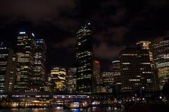 ноча Сидней стоковое изображение
