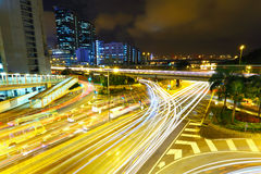 ноча скоростного шоссе Стоковое фото RF