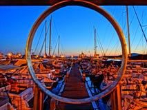 Ноча снятая Порту Pozzuoli Стоковое Изображение