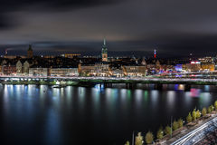 Ноча снятая Стокгольма Стоковое Изображение RF