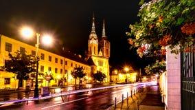 Ноча собора Загреба Стоковая Фотография