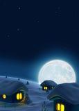 ноча спокойная иллюстрация вектора